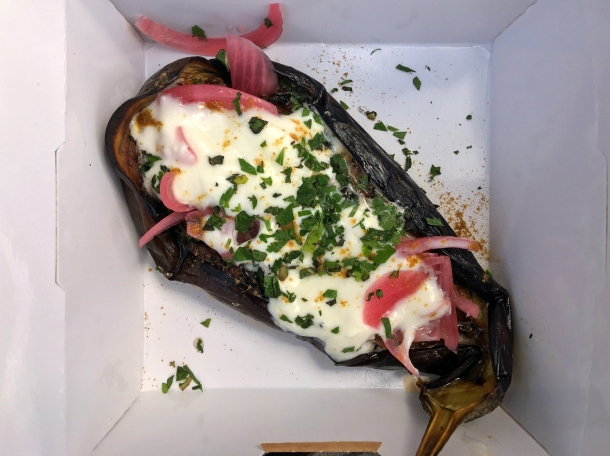 illustrative photo of the aubergine from From The Ashes BBQ
