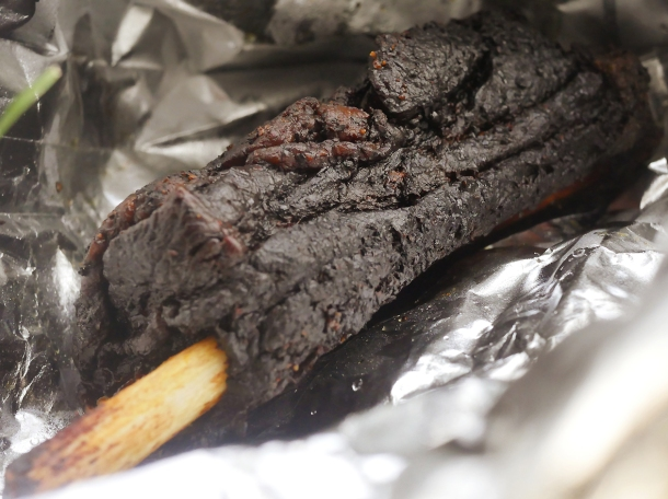 illustrative photo of the takeaway beef short rib from Texas Joe's.