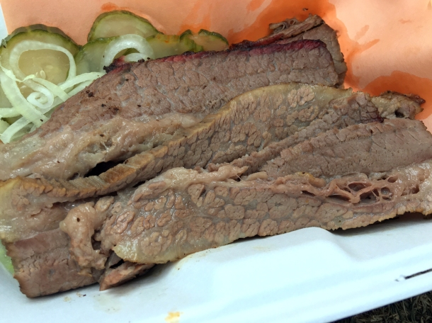 illustrative photo of the brisket from Red Dog Saloon Soho