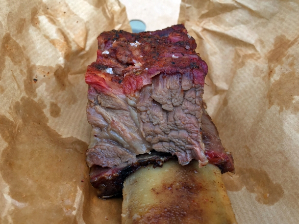 illustrative photo of the Jacob's Ladder rib from From The Ashes BBQ