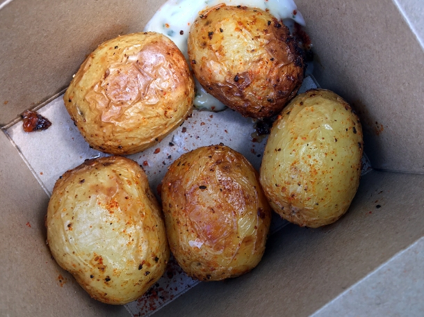 illustrative photo of the potatoes from From The Ashes BBQ
