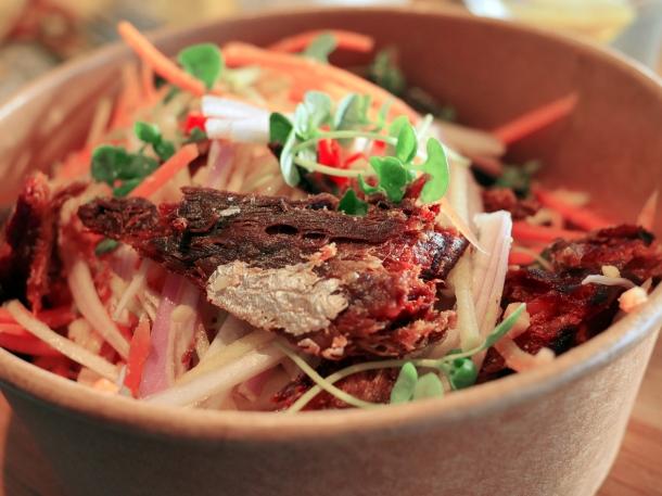 illustrative image of the blackened mackerel salad at Rick Stein Fistral