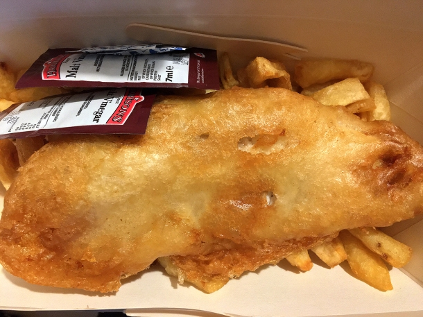 illustrative photo of the fish and chips from Smuggler's Lizard