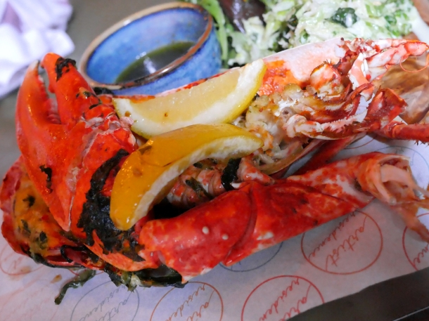 illustrative image of the half lobster at Artists Residence Penzance
