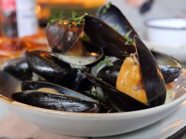 illustrative image of the mussels at Artists Residence Penzance