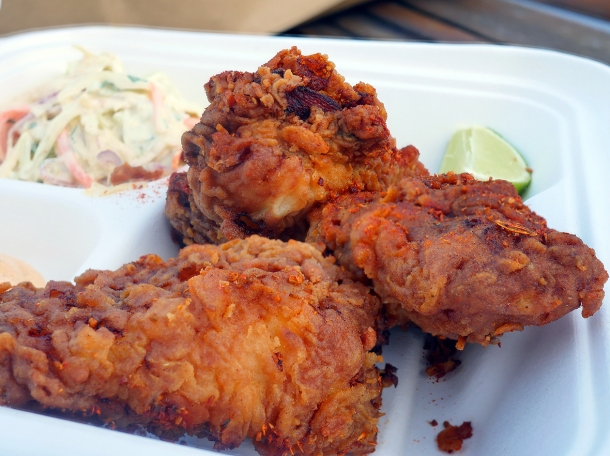 illustrative photo of the southern fried monkfish from Landed Porthleven