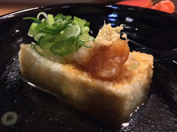 illustrative photo of the agedashi tofu at Koya City