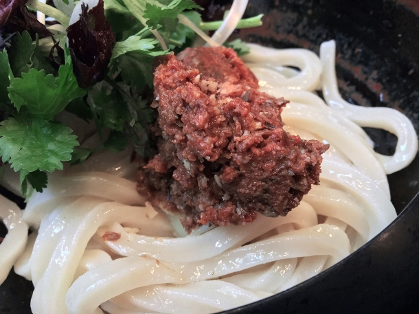 illustrative photo of the cold udon with lamb at Koya City