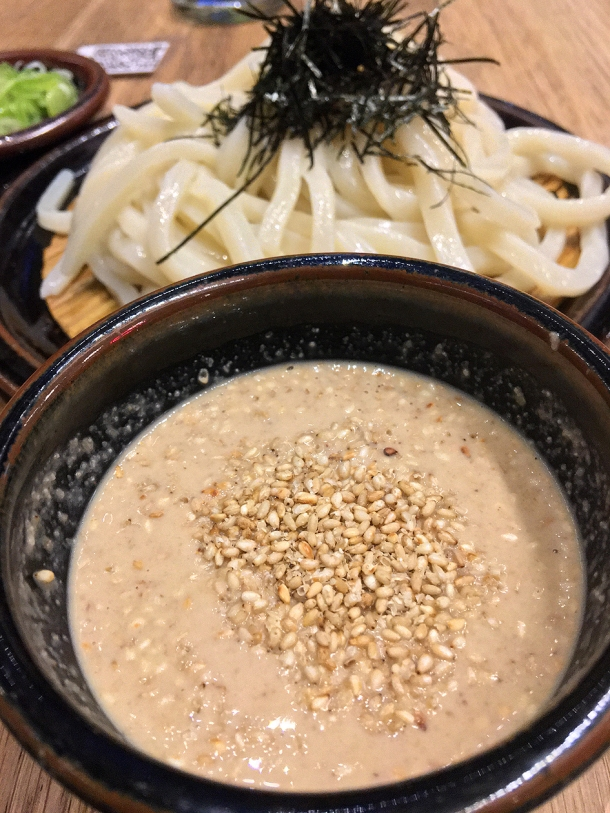 illustrative photo of the cold udon with sesame sauce at Koya City