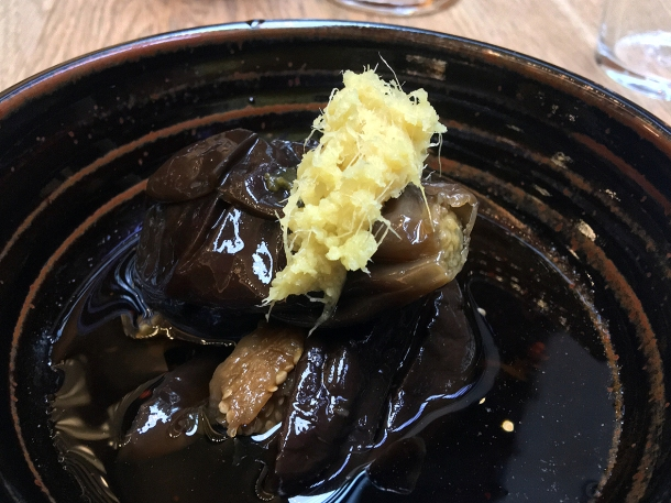 illustrative photo of the Forgotten aubergine special at Koya City