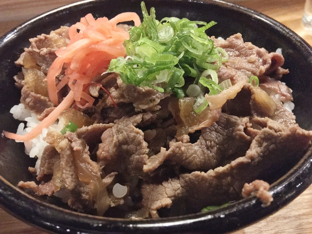 illustrative photo of the gyudon at Koya City