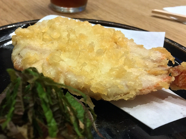 illustrative photo of the red mullet tempura special at Koya City