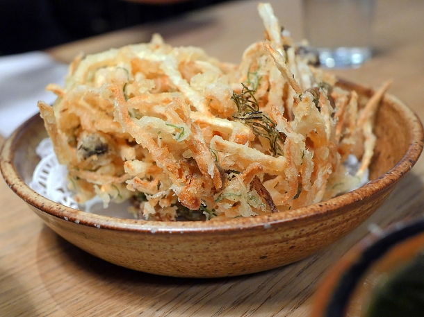 illustrative photo of the vegetable tempura side dish at Koya City