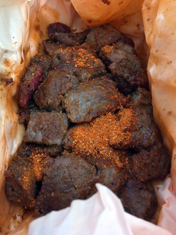 illustrative photo of the lean beef suya from Alhaji Suya