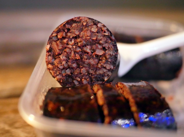 illustrative photo of the black pudding from Kaieteur Kitchen