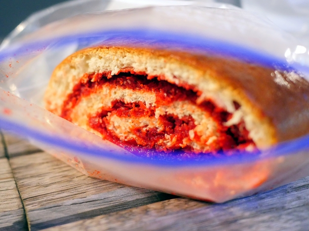 illustrative photo of the swiss roll from Kaieteur Kitchen