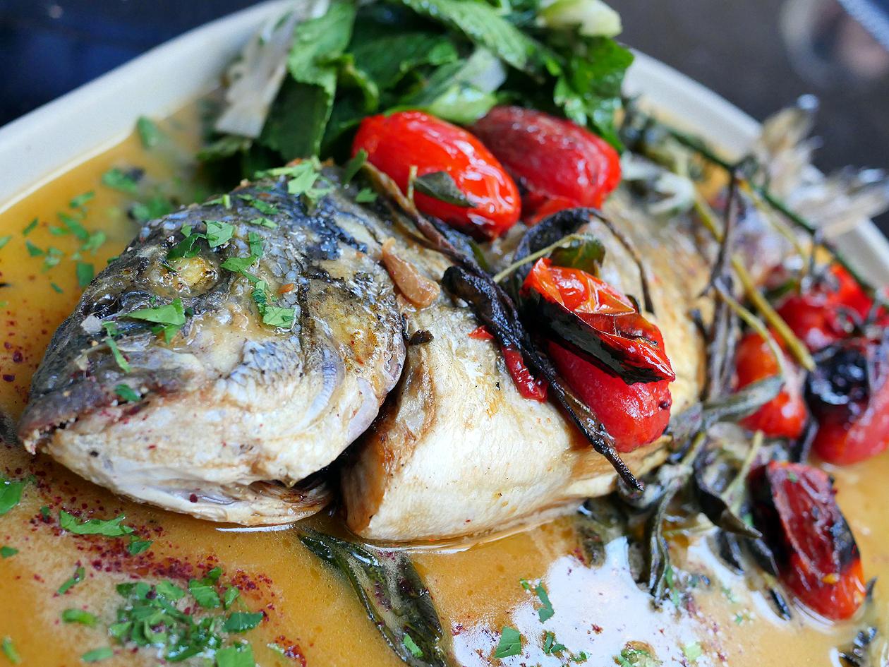 illustrative photo of the sea bass and fennel at Bala Baya