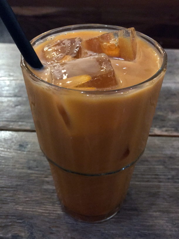 illustrative image of the milk iced tea at Lao Cafe