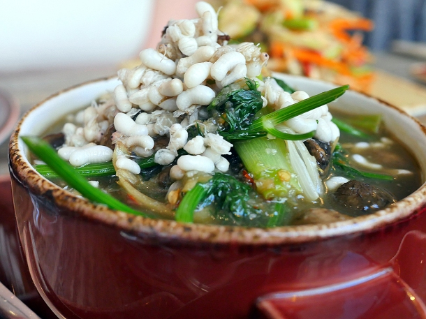 illustrative image of the mixed mushroom curry with ant's eggs at Lao Cafe