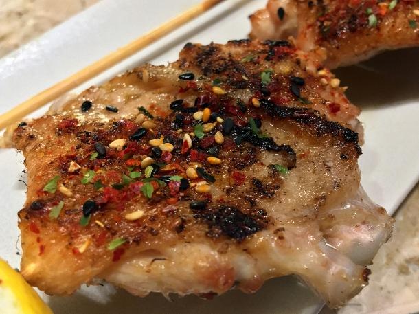 illustrative image of the omakase wing yakitori at Humble Chicken