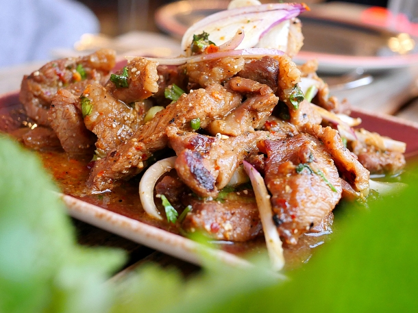 illustrative image of the pork neck laab at Lao Cafe