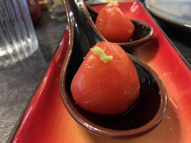 illustrative image of the radish amuse bouche at Junsei
