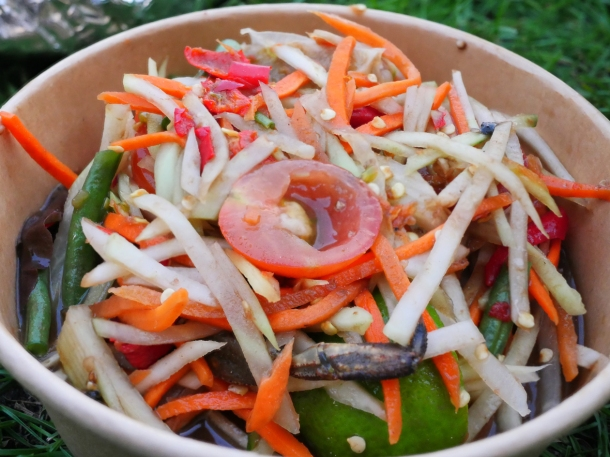 illustrative image of the takeaway green papaya salad from Lao Cafe