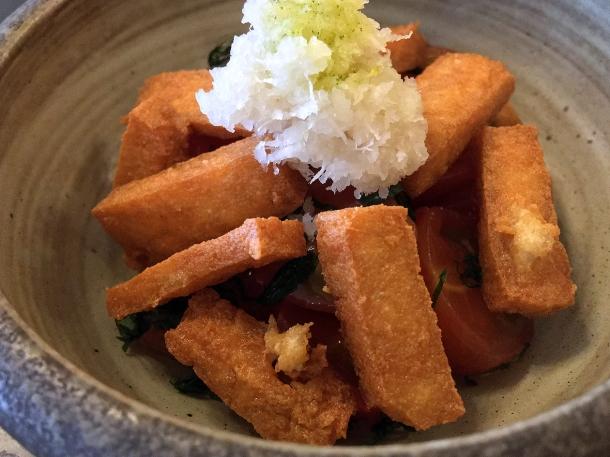 illustrative image of the tofu tomato salad at Junsei