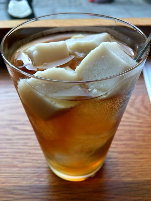 illustrative photo of the almond iced tea at Bao Noodle Shop