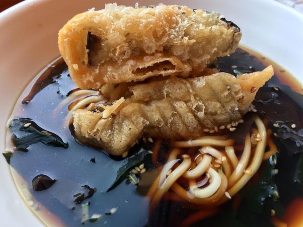 illustrative photo of the aubergine kelp noodle soup at Bao Noodle Shop