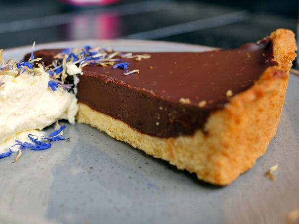 illustrative photo of the chocolate tart at Craving Tottenham