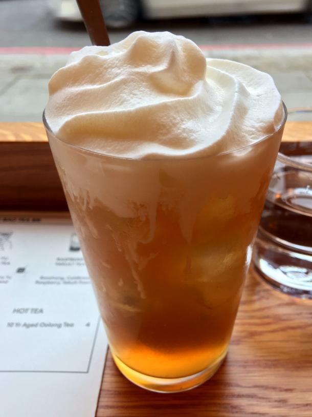 illustrative photo of the lemon iced tea soft drink at Bao Noodle Shop