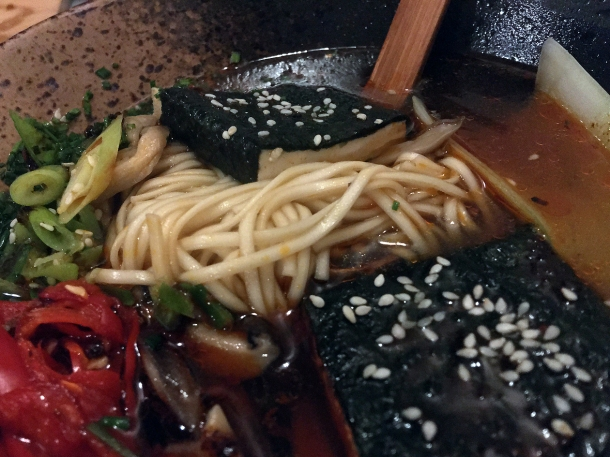 illustrative photo of the nori tofu and shiitake ramen at Craving Tottenham