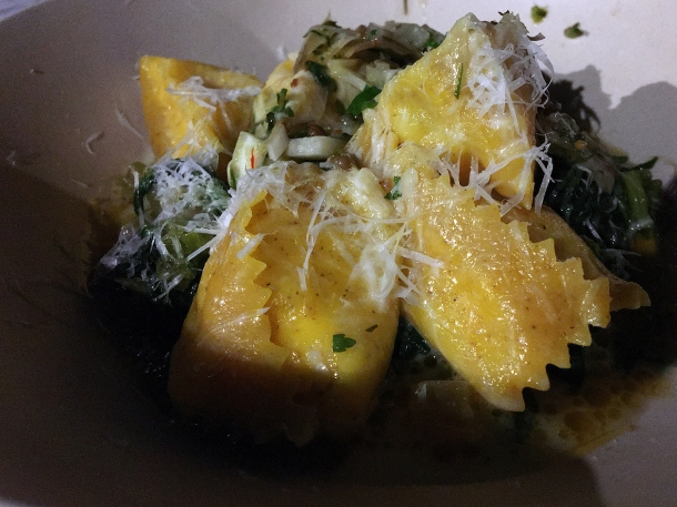 illustrative image of the ricotta agnolotti at Darby's