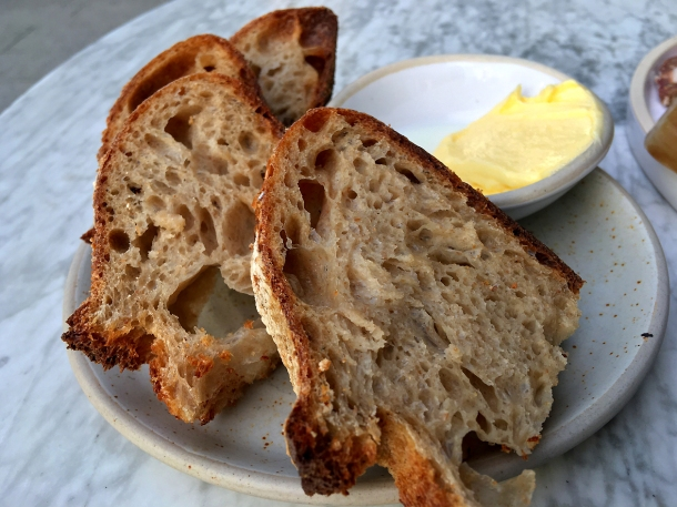 illustrative photo of the sourdough bread and cultured butter at Darby's