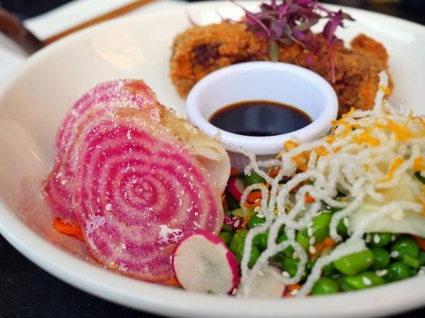 illustrative photo of the tonkatsu salad at Craving Tottenham