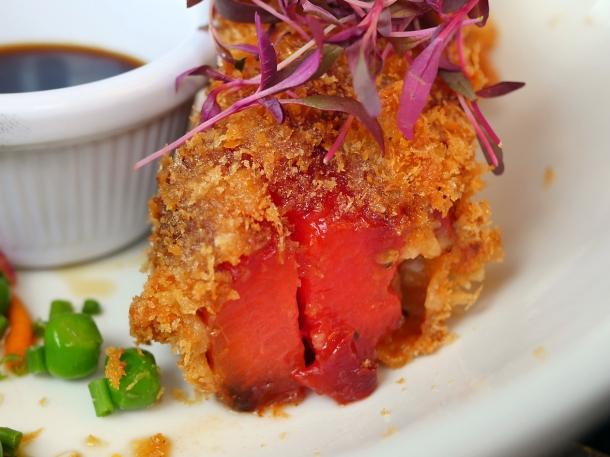 illustrative photo of the watermelon tonkatsu at Craving Tottenham