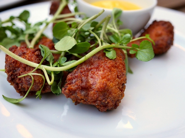 illustrative photo of the lamb sweetbreads at Perry Hill Pub