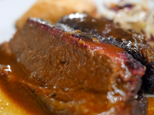 illustrative photo of the smoked beef brisket at Perry Hill Pub